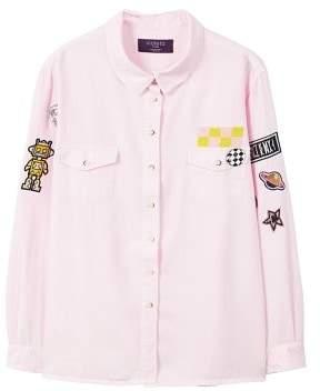 Violeta BY MANGO Decorative patches shirt