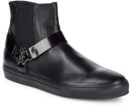 Roberto Cavalli Leather Chelsea Boots