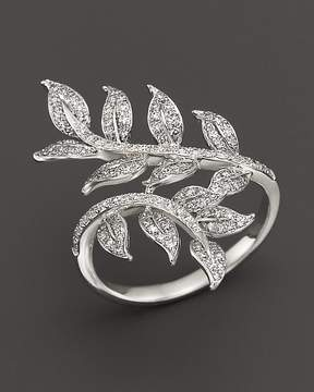 Bloomingdale's Diamond Leaf Ring in 14K White Gold, .50 ct. t.w.