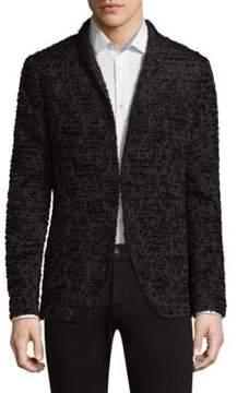 John Varvatos Textured Shawl Collar Jacket