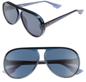 Christian Dior Women's Lia 62Mm Oversize Aviator Sunglasses - Blue