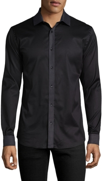 Karl Lagerfeld Men's Embroidered Cotton Shirt