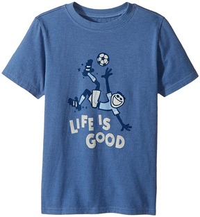 Life is Good Bicycle Kick Soccer Crusher Tee Boy's T Shirt