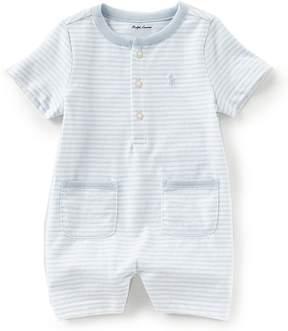 Ralph Lauren Baby Boys 3-12 Months Short-Sleeve Striped Shortall