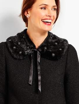 Talbots Embellished Faux-Fur Collar