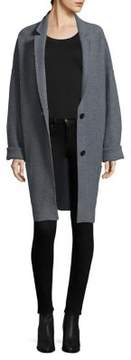 ATM Anthony Thomas Melillo Buttoned Merino Wool Car Coat