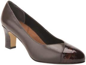 Ros Hommerson Dark Brown Vallerie Leather Pump - Women