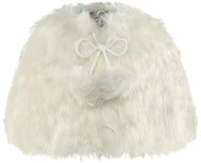 Rachel Riley Ivory Faux Fur Cape