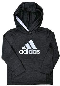 adidas Coast To Coast Hoodie - Black Heather - Boys - 5