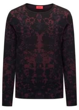 HUGO Boss Cotton Blend Sweater Sorach L Dark Red