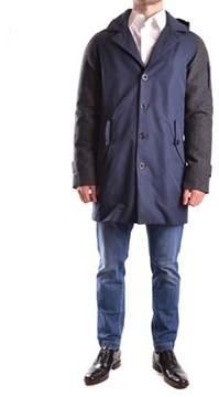 Geospirit Men's Blue/grey Cotton Coat.
