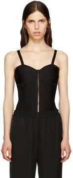Balmain Black Zip-Up Bodysuit