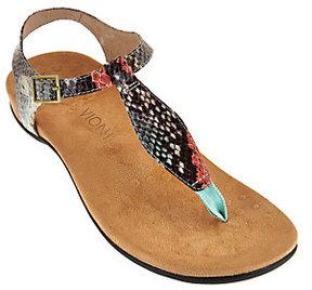 Vionic Orthotic T-strap Sandals w/ Adj. Ankle Straps - Paden