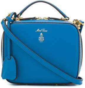 Mark Cross Blue Saffiano Baby Laura Bag