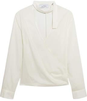 IRO Anja Rubik Mareyna Cotton And Silk-blend Blouse - White