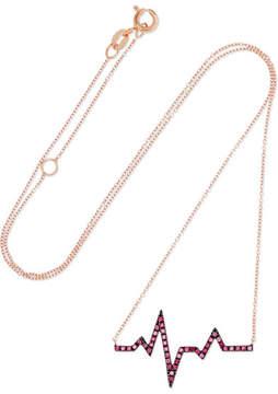 Diane Kordas Heartbeat 18-karat Rose Gold Sapphire Necklace