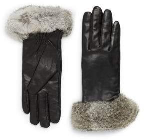 Surell Leather & Rabbit Fur Gloves