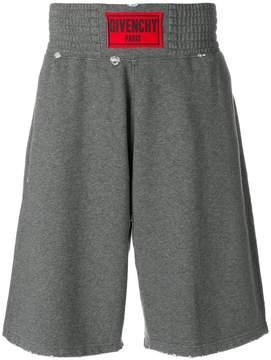 Givenchy logo patch shorts