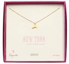 Dogeared 14K Gold Plated Sterling Silver State of Mind New York Necklace