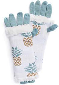 Muk Luks Women's Pineapple 3-in-1 Gloves