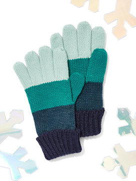 New York & Co. Striped Colorblock Gloves