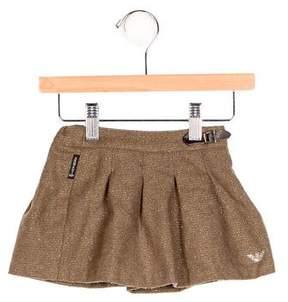 Armani Junior Girls' Pleated Metallic Skirt