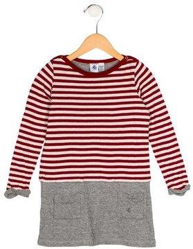 Petit Bateau Girls' Striped Long Sleeve Dress