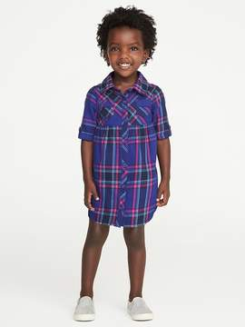 Old Navy Plaid Shirt Dress for Toddler Girls