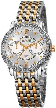 August Steiner Womens Two Tone Strap Watch-As-8228ttg
