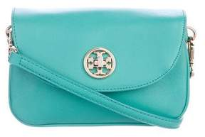 Tory Burch Mini Leather Robinson Crossbody Bag - BLUE - STYLE