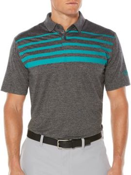 Callaway Short Sleeve Opti-Soft Golf Performance Ombre Chest Stripe Heather Polo Shirt