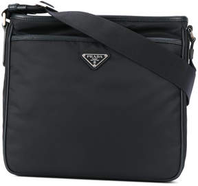 Prada logo plaque messenger bag