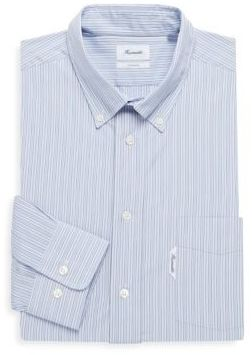 Façonnable Button-Down Point Collar Cotton Dress Shirt