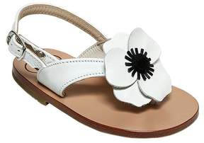 Pépé Nappa Leather Sandals W/ Floral Appliqué