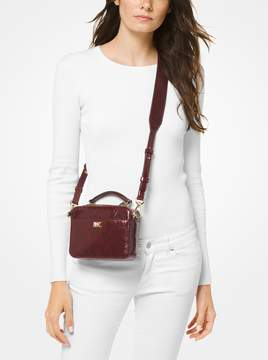 MICHAEL Michael Kors Mott Mini Crinkled Calf Leather Crossbody