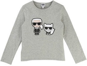 Karl Lagerfeld & Choupette Front-Back Graphic Tee, Size 4-5