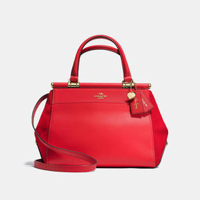 COACH SELENA GRACE BAG IN MIXED LEATHERS - LIGHT GOLD/SELENA RED