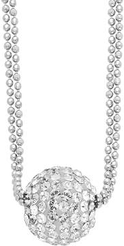 Ball Sterling Silver Crystal Pendant Necklace