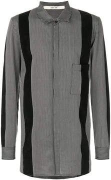 Damir Doma panelled striped shirt