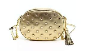 Michael Kors Gold Starburst Studded Ginny Metallic Leather Purse - GOLDS - STYLE