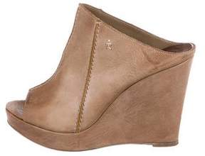 Henry Beguelin Leather Wedge Sandals