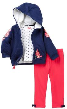 Little Me Embroidered Hoodie and Legging (Baby Girls)