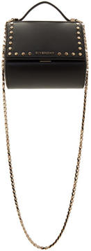 Givenchy Black Studded Mini Pandora Box Chain Bag
