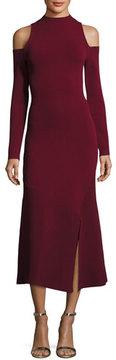 Camilla And Marc Lindeval Cold-Shoulder Jersey Cocktail Dress, Dark Red