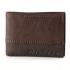 Dickies Slim Bifold Leather Wallet - Men