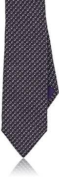 Ralph Lauren Purple Label Men's Rectangle-Print Mulberry Silk Crepe Necktie