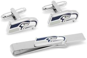 Ice Seattle Seahawks Cufflinks and Tie Bar Gift Set