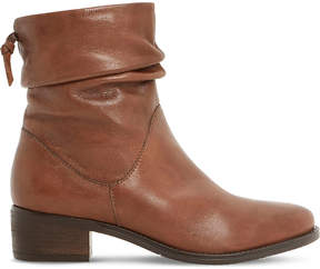 Dune Pager ruched leather ankle boots