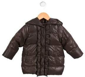 Lili Gaufrette Girls' Hooded Down Coat