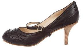 John Galliano Leather Round-Toe Pumps